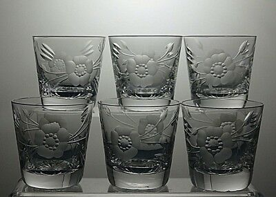 "Watford Lead Crystal Cut Glass Small Tumblers Set Of 6 - 3"" Tall"
