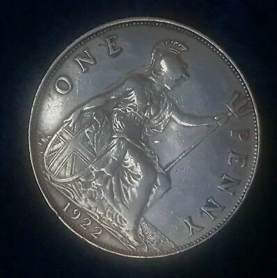 1922 Great Britain Penny, Key Date!!! Lots Of Details!!