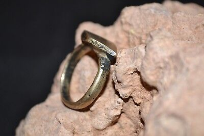 Viking Warrior Solid Bronze Ring Decorated - Very Rare Wearable Ancient Artifact