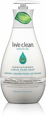 Hydrating Argan Oil Liquid Hand Soap, Live Clean, 17 oz 6 pack