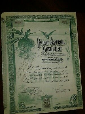 1 (One) Very Rare 1905 Mexican Blueberry Bond!