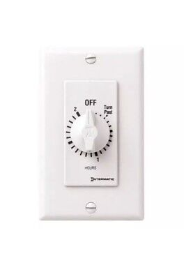 INTERMATIC Spring-Wound Timer, White, Timing Range:  0 to 2 hr., 20 Max. Amps