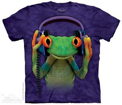 DJ Peace Tree Frog Headphones The Mountain T-Shirt (3190) All Sizes