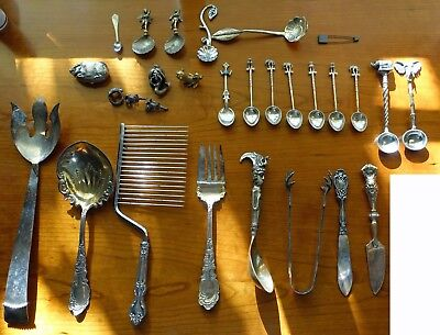 Estate Flatware, Charms, Spoons, Forks