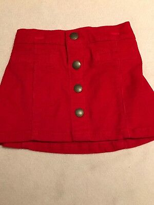 NEW~ Baby Girl Red Corduroy Skirt Size 12-18 Months