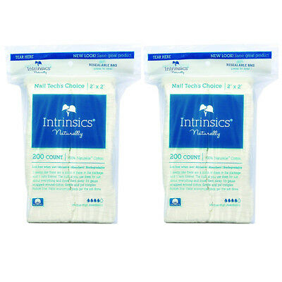 """Intrinsics 100% Naturelle 2"""" x 2"""" Cotton-Fill Gauze (200 Count) (Pack Of 2)"""