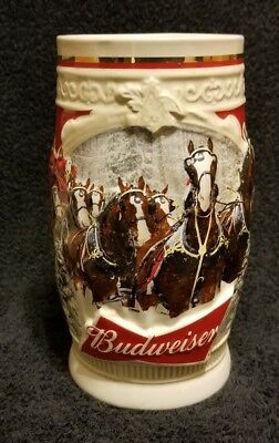2015 Budweiser Holiday Stein New, 35th Anniversary Edition