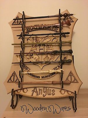 Harry Potter Personalised Wand Stand Holder Kids Collectors Design Movie Series