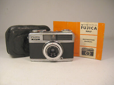 Fujica Half 35mm Camera 1963 w/ Original Case & Instructions (AS IS)