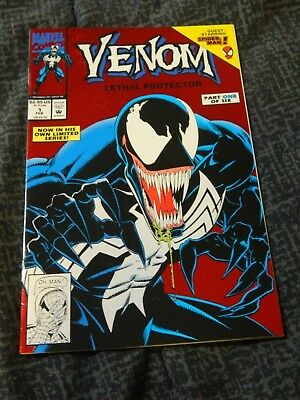 1992 Marvel Comic - Venom #1 Lethal Protector w/ Spider-man - Near Mint to Mint