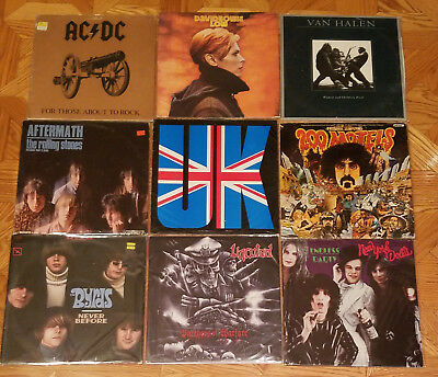 Beatles, Rolling Stones, Zappa, Queen, Led Zepp etc... Lot Of 3LP's Vinyl Albums