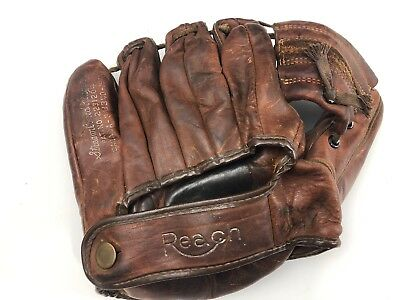 B2 Antique Vintage Reach Baseball Glove Mitt Brown Leather 2161