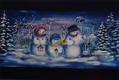 "Gladys Neilsen tole painting pattern ""Snow Friends"""