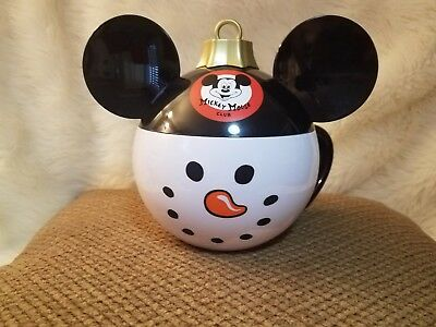 Disney Parks Disneyland 2018 Snowman Mickey Christmas Holiday Ornament Mug Stein