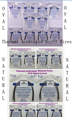 Dental Oval/Natural Thermal Activated Niti Arch Wires Round 12-20 10Wires/Pack