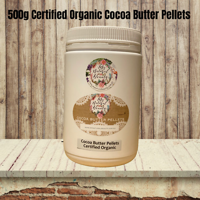 Cocoa Butter Pellets 400g (2x 200g) Pure Natural- Hydrating- Cacao-DYI Skincare