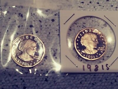 1981-S Type 2 Proof Susan B Anthony Dollar Coin