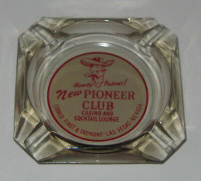 2 Cowboy Ashtrays - Pioneer Club, Las Vegas Western Retro Rockabilly Mid-Century
