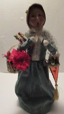 """Byers' Choice Carolers Victorian Shopper, 12-1/2"""" Tall, Many Gifts & Poinsettias"""