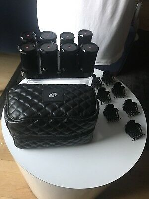 T3 Volumizing Hot Rollers Luxe hair curlers w/clips and bag Model 73701