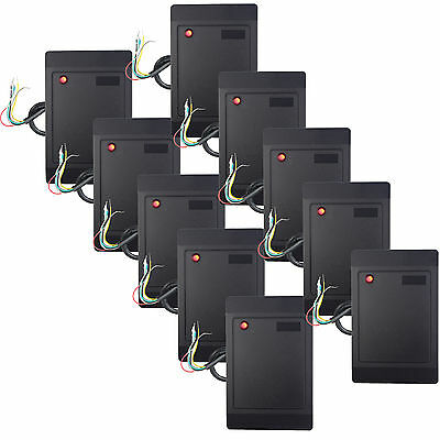 10X Waterproof RFID Card Reader UEM LED PVC for Door Access Control System WG26