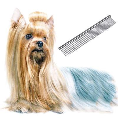 Stainless Steel Comb Hair Brush Shedding Flea For Cat Dog Pets Trimmer Grooming