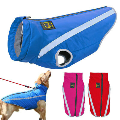 Waterproof Large Dog Coat Jackets Winter Warm Reflective Pet Clothing Outfits