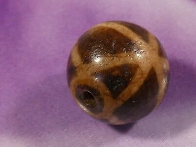 ANCIENT PUMTEK PYU BEAD '' THREE SPOKE '' RARE PRECIOUS PERFECT 12 MM pumtekman