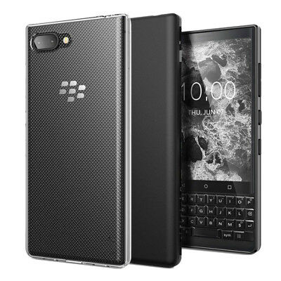 For BlackBerry KEY2 / KEY2 LE Slim Gloss Soft Gel TPU Silicone Case Skin Cover