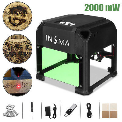 Real Mini 2000mW USB Laser Engraving Machine DIY Logo Printer Carver Engraver