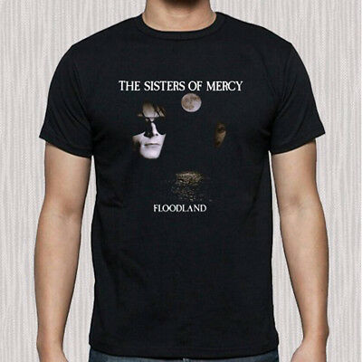 The Sister of Mercy Floodland Album Cover Men's Black T-Shirt Size S to 3XL
