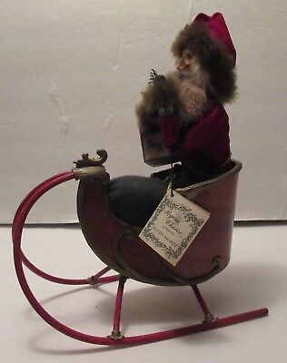 Byers' Choice Carolers Dyedt Moroz (Grandfather Frost) With Sleigh, Retired