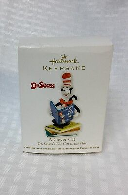 """Hallmark """"A Clever Cat"""" Dr. Seuss~The Cat In The Hat~Christmas Ornament~2012~"""