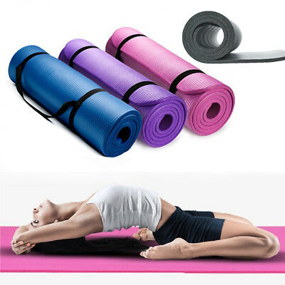 173cm×61cm Yoga Mat Nonslip Exercise Pilates Workout Fitness Gymnastic Pad w/Bag