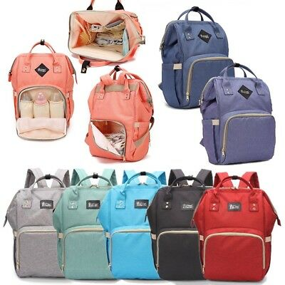 Mom Mummy Maternity Baby Changing Bag Backpack Nappy Diaper Wipe Clean Bags UK