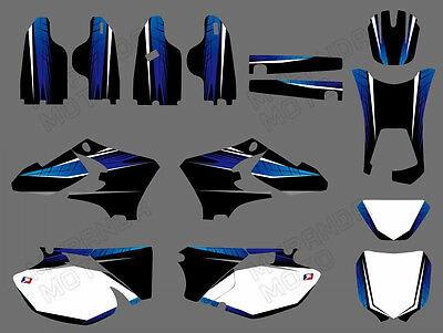 Team Graphics Backgrounds Sticker Decals For YAMAHA WR250F WR450F 2005-2006