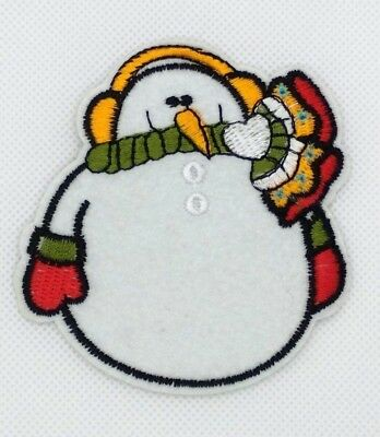 Penguin Embroidered Iron On Applique Patch Winter Friends Snow