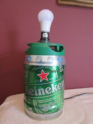 Colorful Over Sized Heineken Beer Can Table Lamp