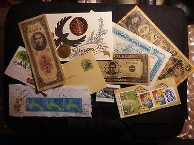 Nice Lot Of Coin, Banknote, Scritp And Stamp