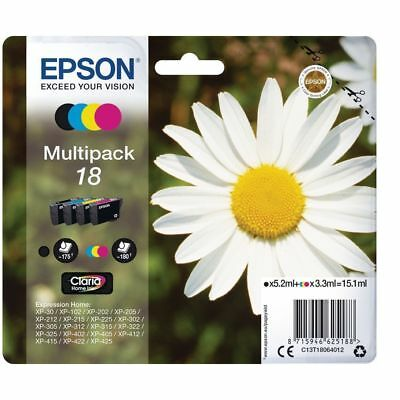 Genuine Epson 18 Ink Cartridge Multi-Pack Daisy T1806 (2019) FREE FAST DELIVERY