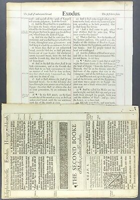 "1611 KING JAMES BIBLE LEAF 1717 LARGEST BIBLE THE ""basket full of errors"" BIBLE"