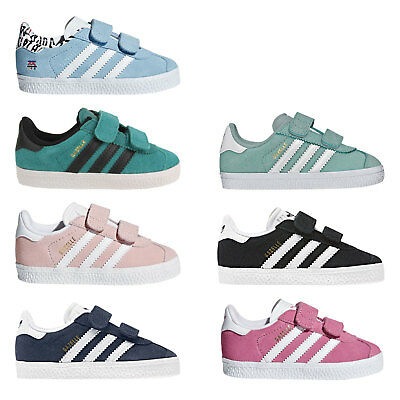 7d90229c33cfb Adidas Originals Gazelle Baskets Enfants Chaussures de Sport Fermeture  Scratch