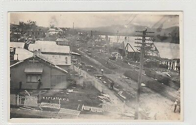 Vintage Postcard Innisfail Esplanade After The Cyclone 1918