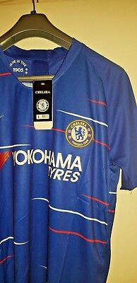 Chelsea Home Shirt 18/19 Brand New With Tags Football Jersey Short Sleeves