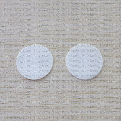 2PCS ROUND HIGH PURITY ALUMINA CERAMIC DISK PLATE SUBSTRATE 51mm*1mm #A95Q LW