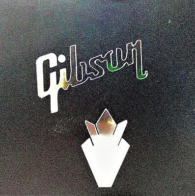 Gibson Crown Headstock, OEM, 0.2% Silver Ore, Vinyl Decal Sticker Guitar Logo