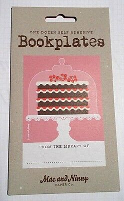 NEW - Bookplates, 12 Self-adhesive Book Labels