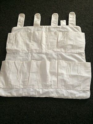 White baby cot organiser And Nappy Holder