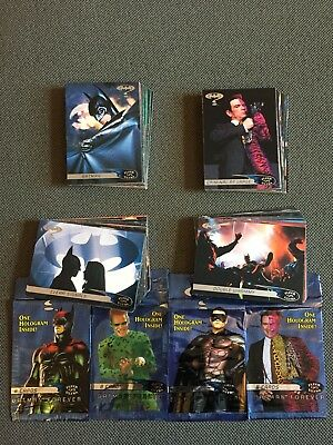 DC comics Batman Forever Movie Cards 1997 Complete Card Set NM
