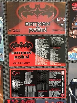 DC comics Batman and Robin 1997 movie trading Skybox premium cards Complete NM